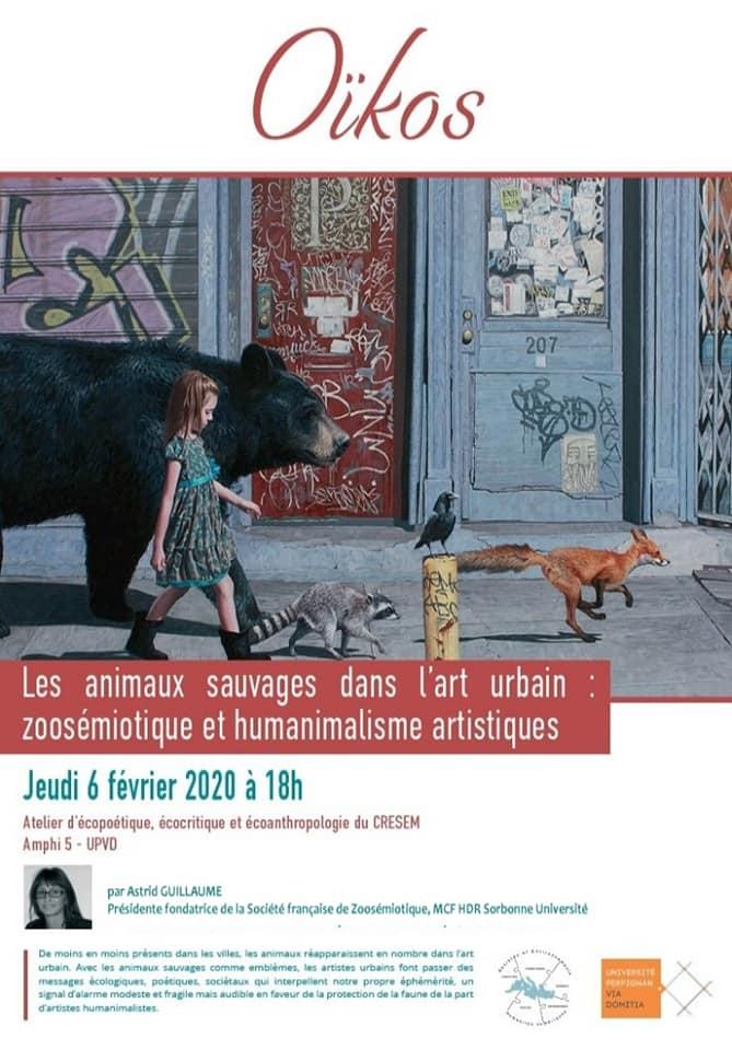 (6 février – Conférence) Les animaux sauvages dans l'art urbain (Université de Perpignan)