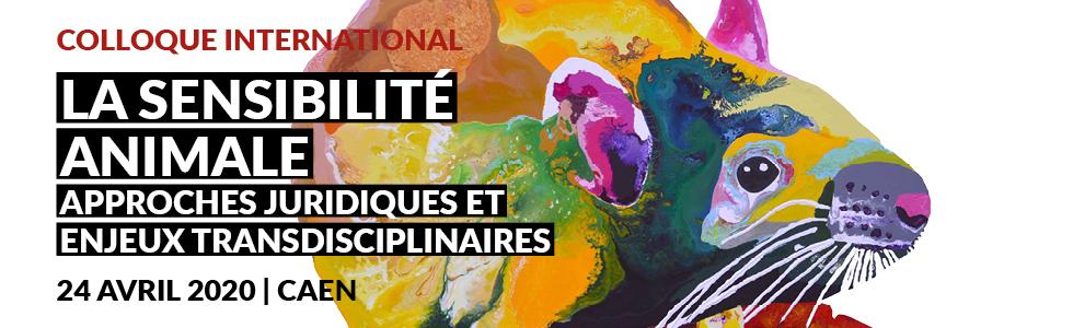 La sensibilité animale 24 avril (Université de Caen)